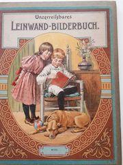 Buch Leinwand Bilderbuch alt