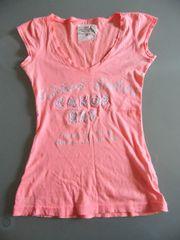 Damen T-Shirt neon aprikot LO