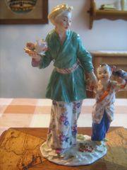 Meißen - Figur Japanerin mit Kind