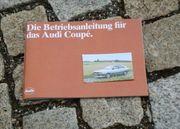 Betriebsanleitung Audi 80 Coupé 1982