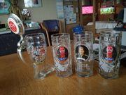 1 FCN Glas-Bierkrüge Verabschiedung Andi