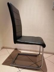 Esszimmer Küchen Stuhl schwarz Alu