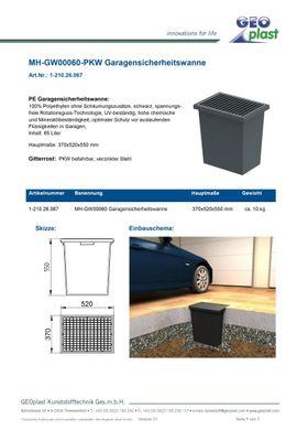 Garagenschachtwanne 65 Liter - NEU - frei: Kleinanzeigen aus Theresienfeld - Rubrik Sonstiges für den Garten, Balkon, Terrasse