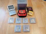 GAMEBOY Advance SP mit SPIELEN