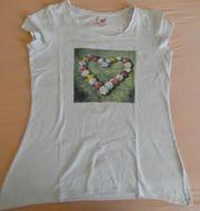 T-Shirt Gr L weiß mit