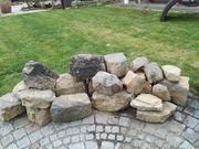 Gartensteine unterschiedlicher Größe