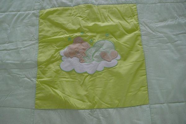 Krabbeldecke Schlafbär grün Easy Baby