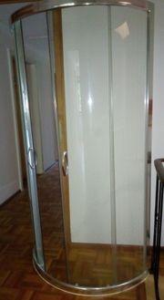 Echtglas-Duschkabine viertelkreis ca 80cm x