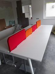 Schreibtisch Doppelschreibtisch für 4 Personen