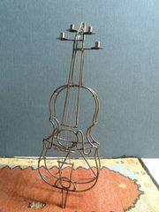 Metallkerzenständer Kerzenleuchter Kontrabass 1m hoch