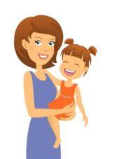 liebevolle geduldige Babysitterin betreut Kinder