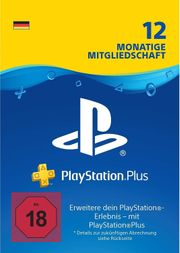 Playstation Plus - 12 Monate - Digitaler