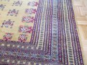 sehr großer goldgelber feingeknüpfter Orient-Teppich