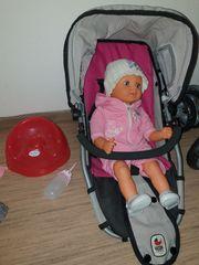 Puppenwagen Kombi mit der Puppe