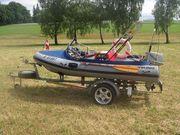 Schlauchboot Wiking inkl Hänger 15PS