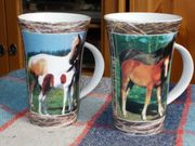 2 Kaffeetassen Pferde