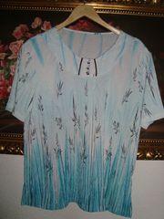 Vintage Shirt Blättermuster Gr 44