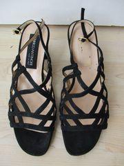 Vintage Damen Sandalette schwarz Gr