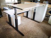 Steh-Sitz-Schreibtisch 160x80 cm Bürotisch Arbeitstisch