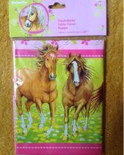 Tischdecke Pferdemotiv für Kindergeburtstag