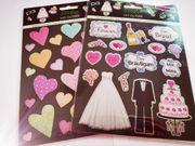Sticker Fotosticker Aufkleber Hochzeit