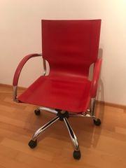 Schreibtischstuhl rot
