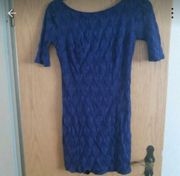 Abendkleid in blau Rückenfrei