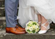 Brautschuh mit Keilabsatz Größe 39
