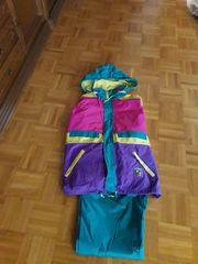 Retro Regenanzug für Damen Größe