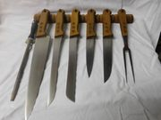 DDR-Messerset mit Holzgriffen genietet und