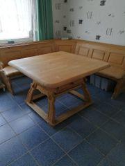 Massivholz Eckbank mit Tisch und