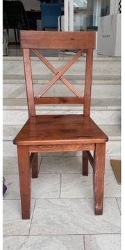 4x Holzstühle