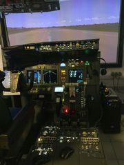 B737 Flugsimulator - hochwertige Komponenten - ein