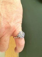 Schöner Tansanit Silber Ring ungetragen
