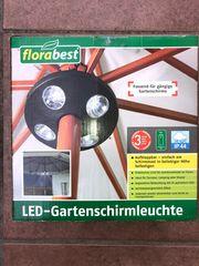 LED - Gartenschirmleuchte NEU