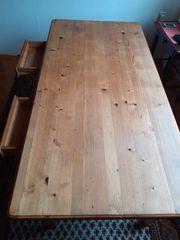 Rustikaler Tisch zwei Schubladen H