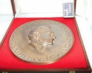 Große schwere Bronze Plakette Anerkennung
