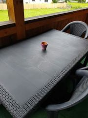 Gardentisch mit 5 Stühle