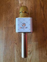 MusicMan Karaoke Mikrofon BT-X31 gold-weiß
