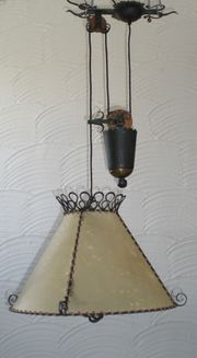 Pendelzuglampe Vintage Schmiedeeisen Pendellampe Deckenlampe