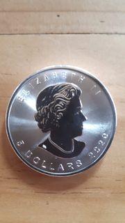 5 Kanadischer Silberdollar 1Uz 2020