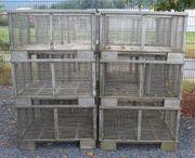 Edelstahl Gitterboxen Transportboxen gebraucht zu