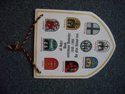 Keramiktafel mit Wappen für Sammler