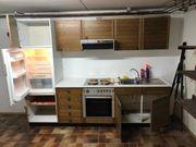 Küchenzeile komplett mit Kühlschrank Herd