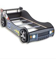 Autobett - silber - mit Beleuchtung -mit