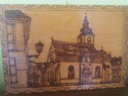 Holzbild Schnitzerei St Makus Kirche