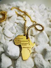 Unisex Afrika Farbe Gold Landkarte
