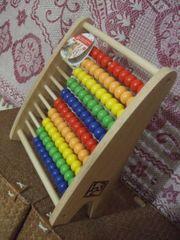Zählrahmen Rechenschieber Kugelspiel Hape Regenbogen