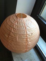 Orange Papierlampe