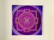 Sri Yantra Energie-Bild Überfluß 50x50